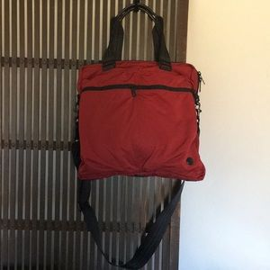 Coach red carry on/gym/ commute bag